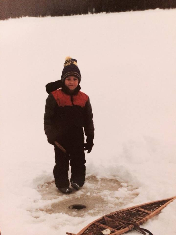 Wehalih's grandson (Freda's son) icefishing on the territory.